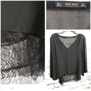 Zara Basic Sheer Blouse w/Tank